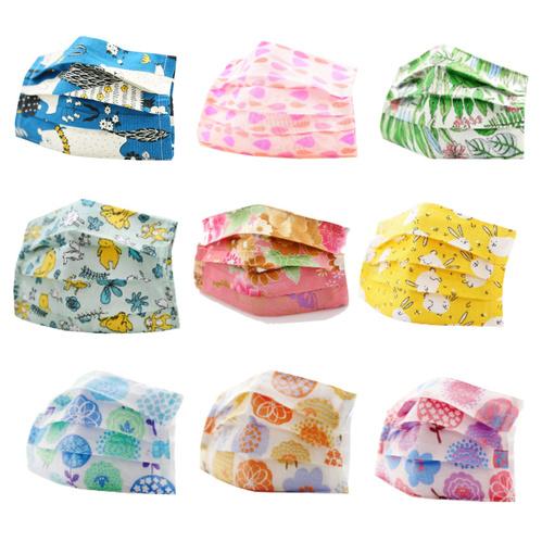 禾織 平面兒童款可重複使用透氣純棉進口布口罩套(多款可選)