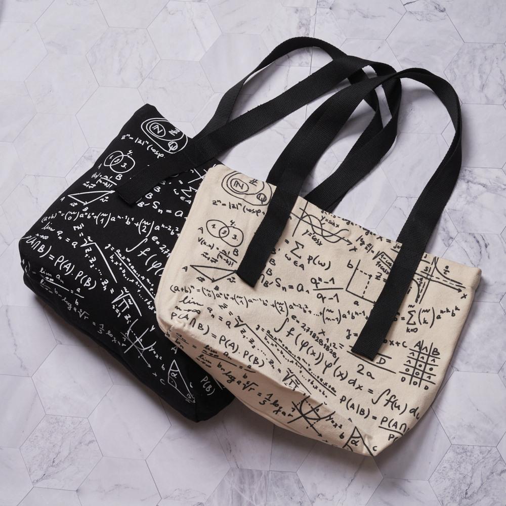 禾織 數學公式文青大容量托特包 帆布包