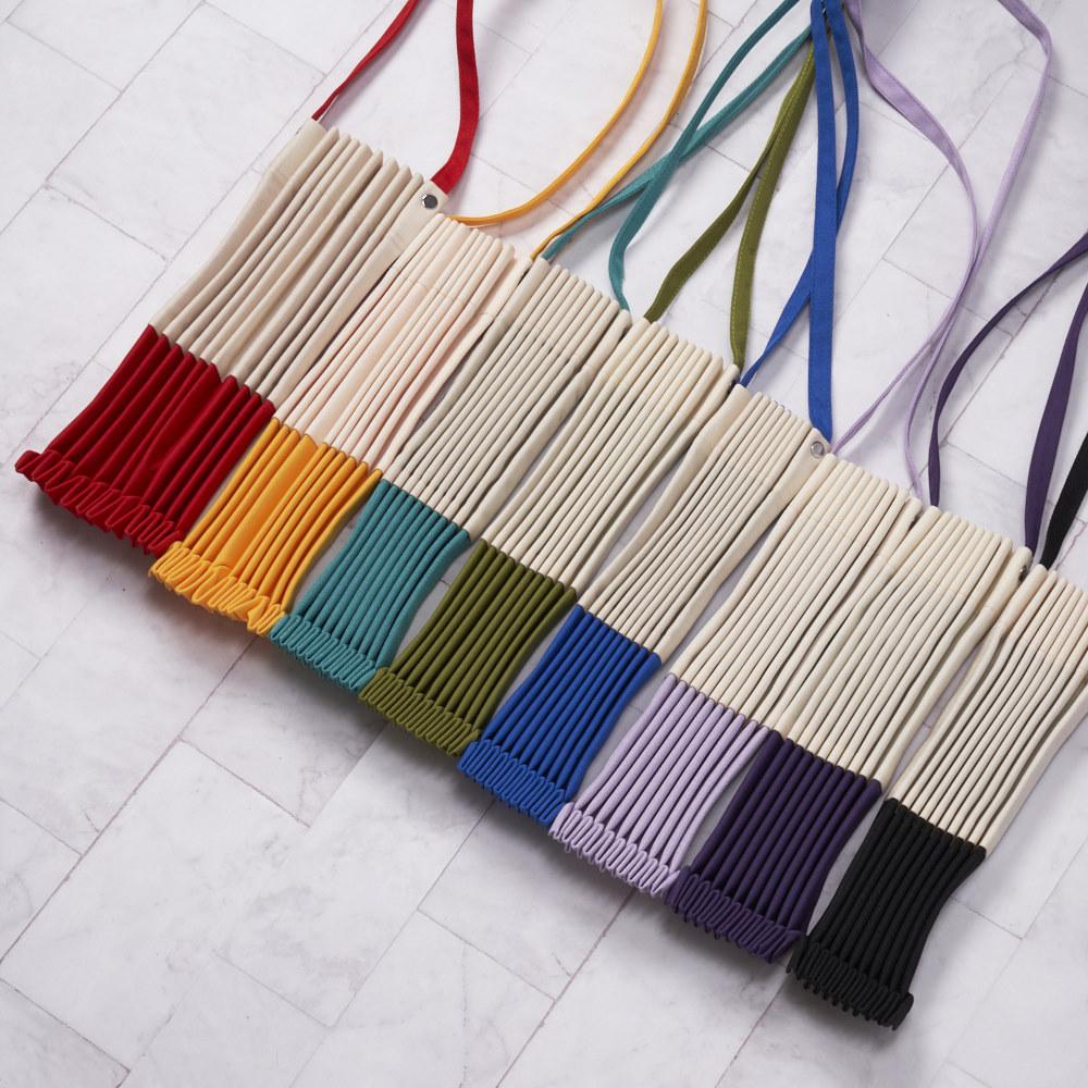 禾織|拼接摺疊收納風琴側背包