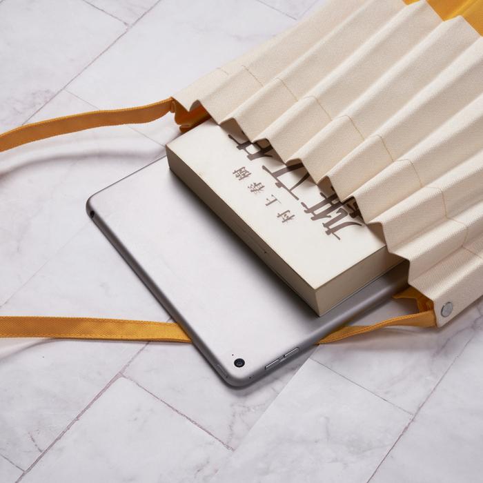 禾織|拼接風琴包 摺疊包 收納袋 側背 肩背