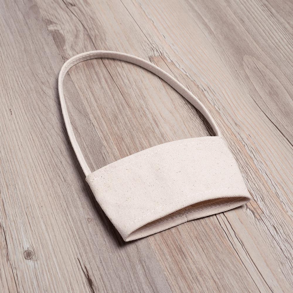 禾織|環保帆布杯套提袋(米白) 6入組