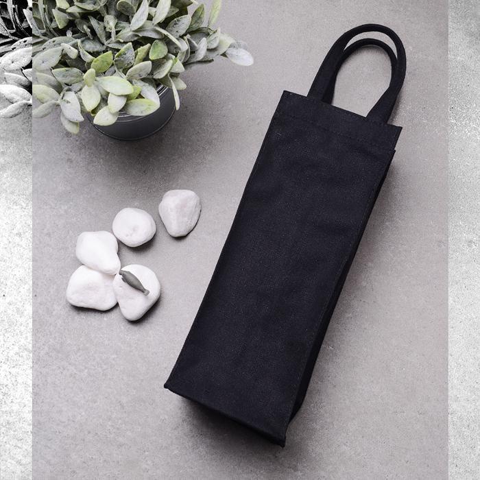 (複製)禾織 環保黑色帆布水壺收納提袋(正常版)