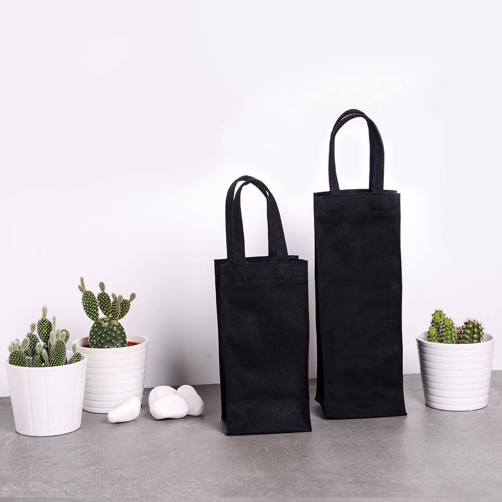 禾織 環保黑色帆布水壺收納提袋(加長版)
