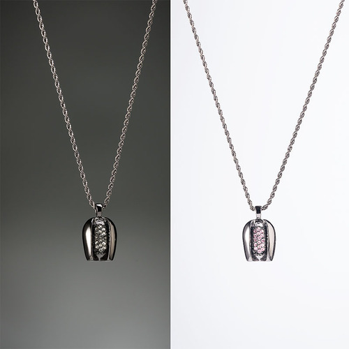 Bin-Neng|檳能項鍊 (黑色/白鑽、銀色/粉鑽)