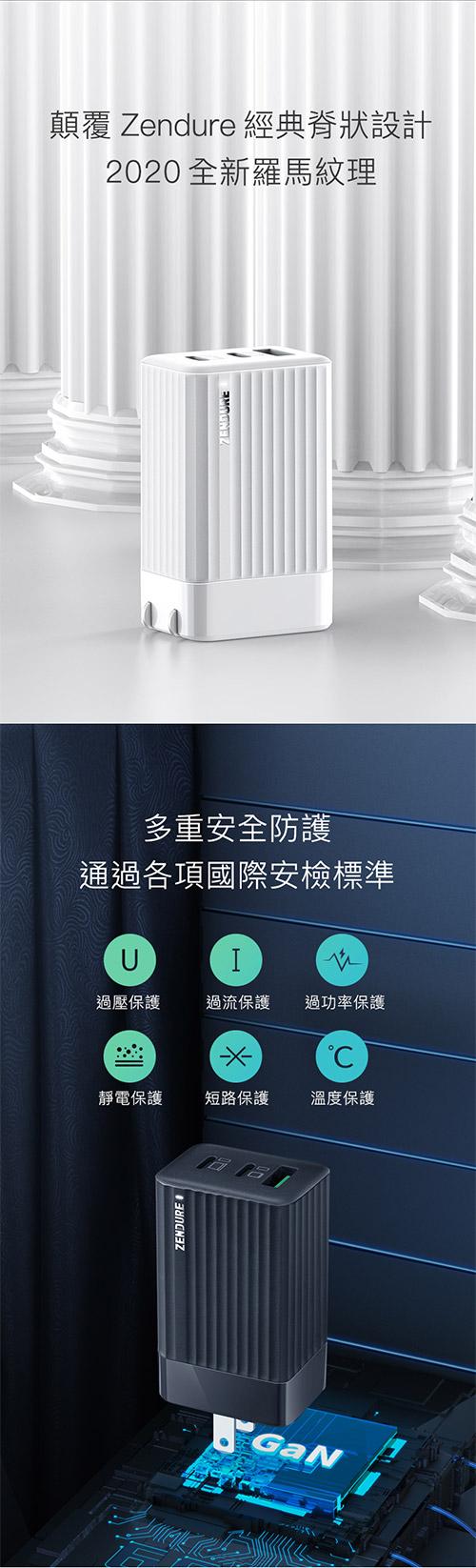 Zendure-SuperPort-S3-65W-PD-三孔快速充電器