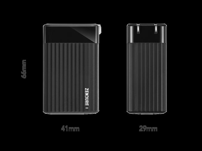 Zendure-SuperPort S3-65W-GaN-PD-快充三孔充電器