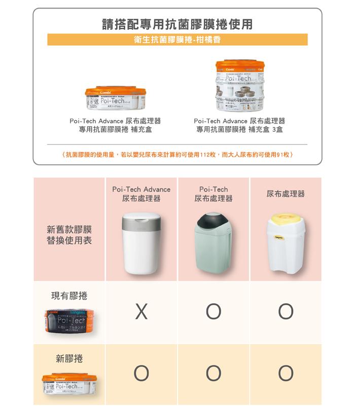 Combi|Poi-Tech Advance 尿布處理器膠捲5入