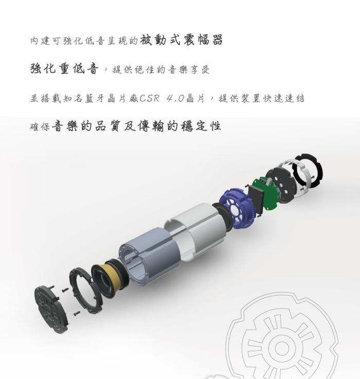ENERMAX 可對接無線藍芽喇叭 EAS02S 黑 (雙顆入)