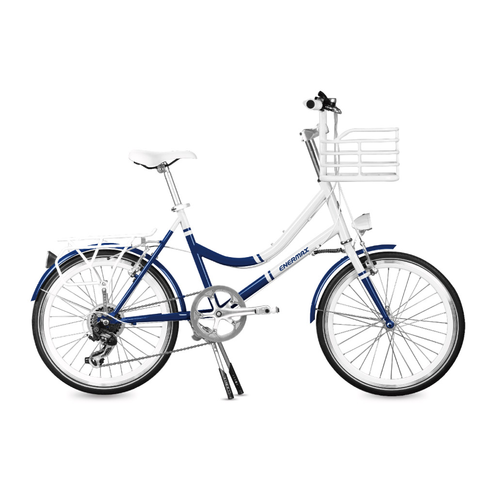 ENERMAX安耐美|ECB200城市自行車(白藍)