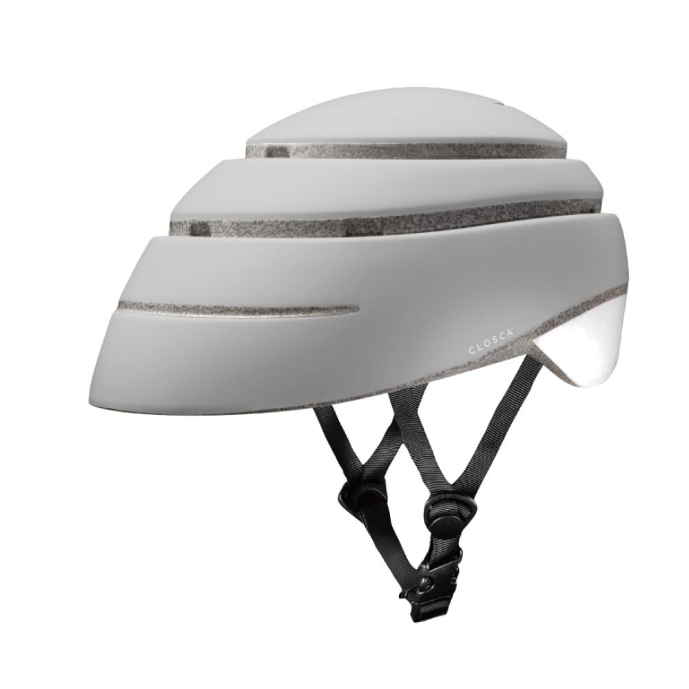 西班牙CLOSCA LOOP|自行車摺疊安全帽(米白+純白.尺寸M)