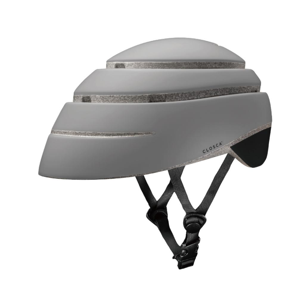 西班牙CLOSCA LOOP 自行車摺疊安全帽(酷灰+冷黑.尺寸L)