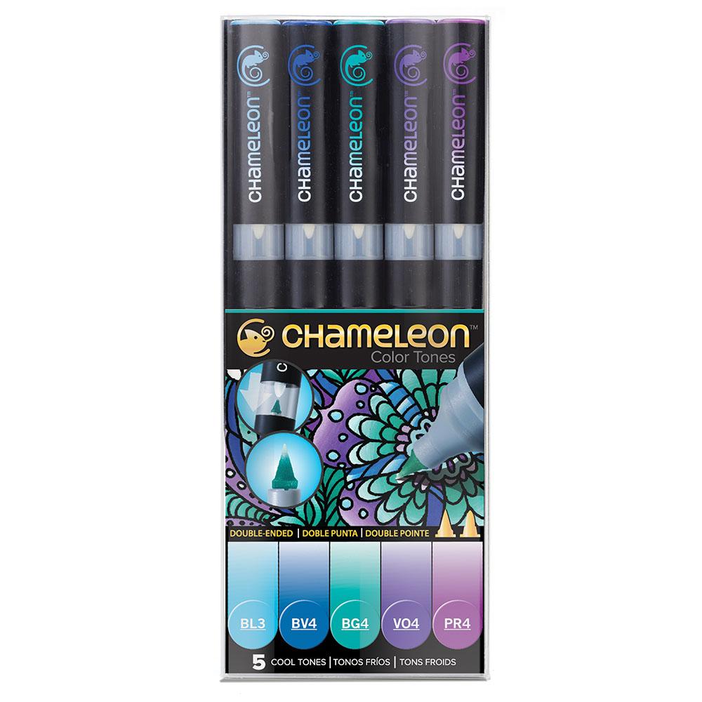 CHameLeon變色龍|漸層麥克筆5色組 冷色調