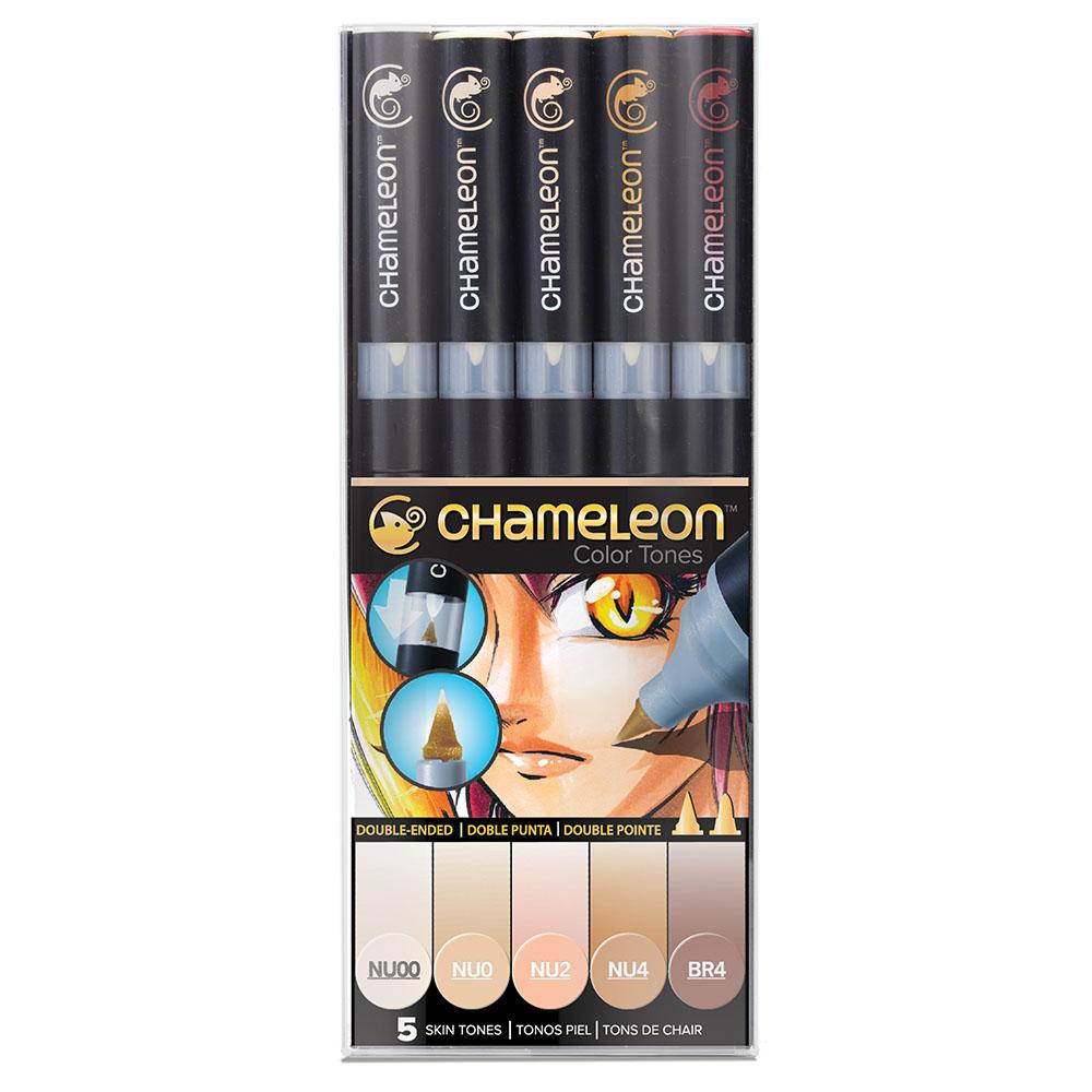 CHameLeon變色龍|漸層麥克筆5色組 膚色