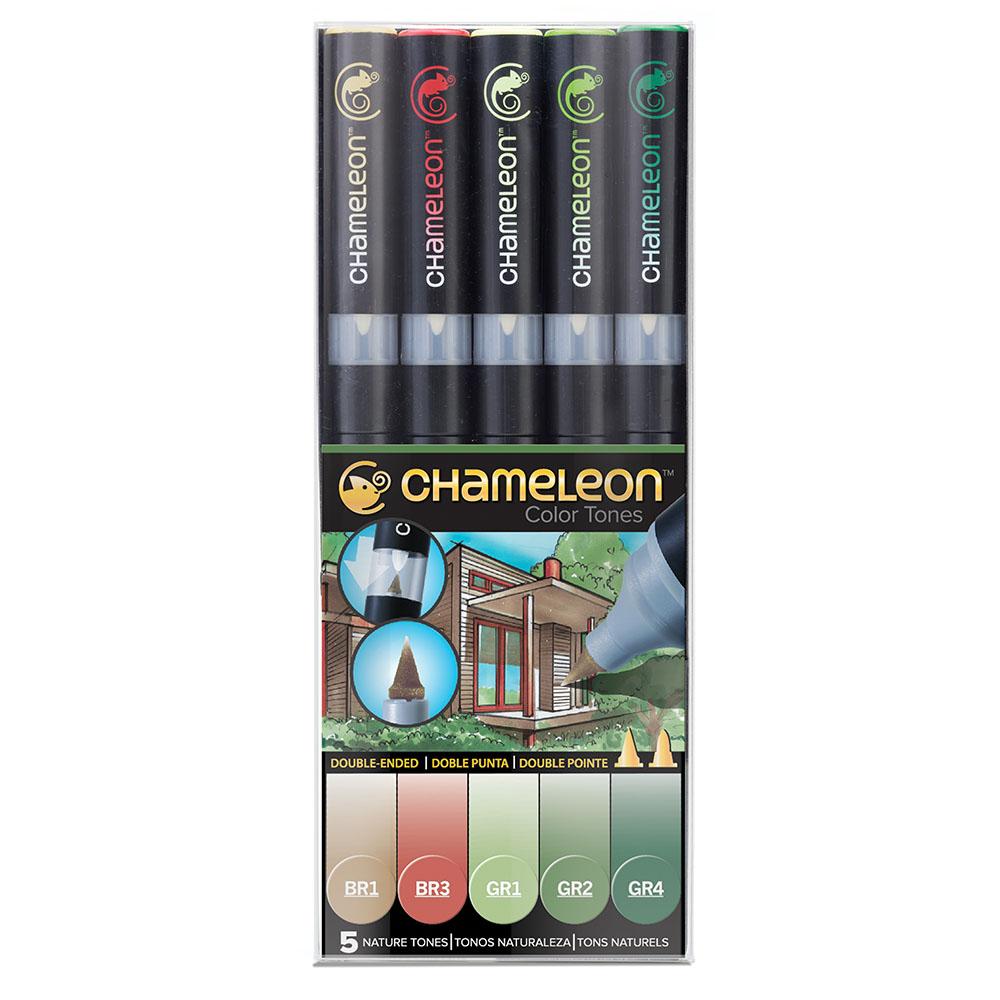 CHameLeon變色龍|漸層麥克筆5色組 自然色