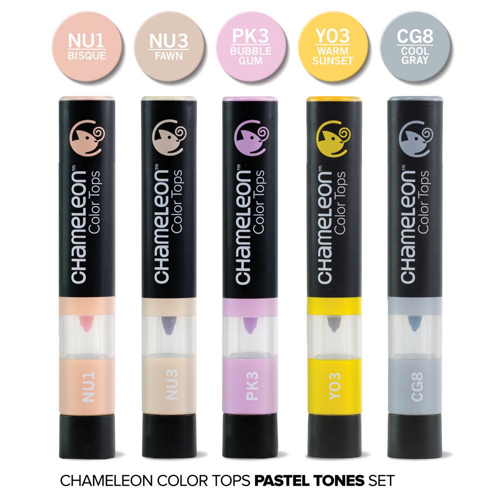 CHameLeon變色龍 麥克筆轉色蓋 5色組 粉彩色