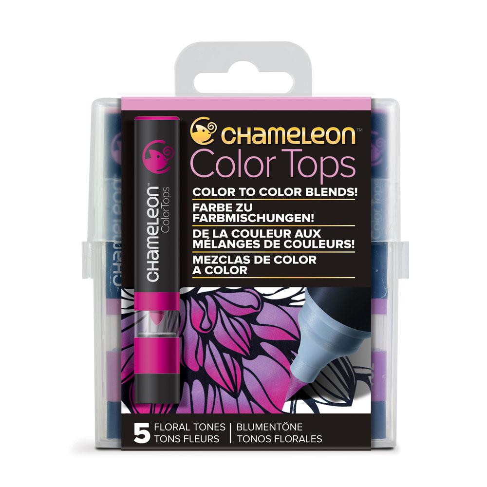 CHameLeon變色龍 麥克筆轉色蓋 5色組 花色