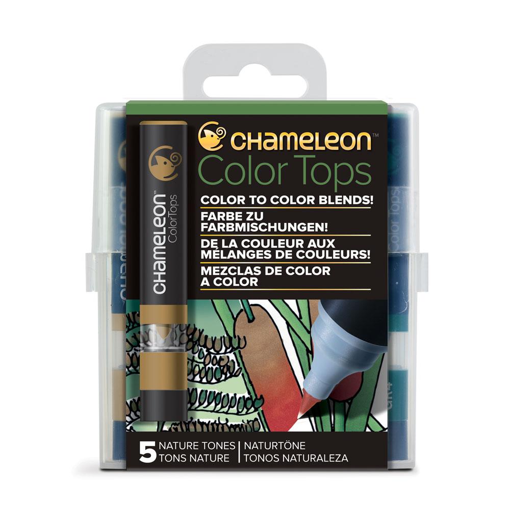 ChameLeon變色龍|麥克筆轉色蓋 5色組 自然色