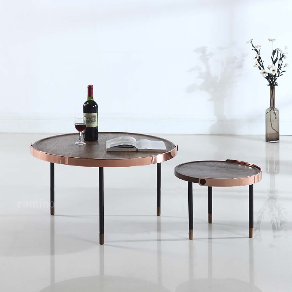 camino CARMEL 銅環小咖啡桌  邊桌 茶几 圓桌