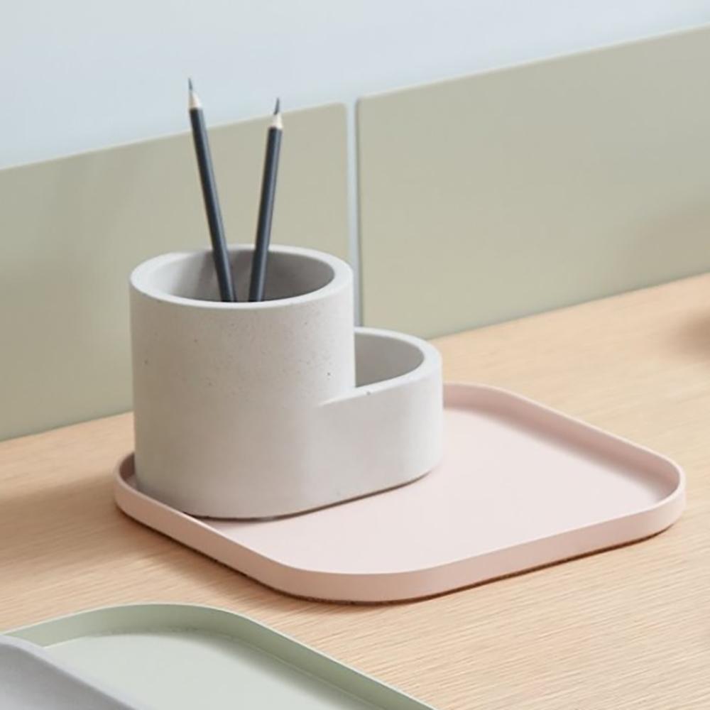 camino|LUIS 多功能極簡文具組 淡粉筆筒