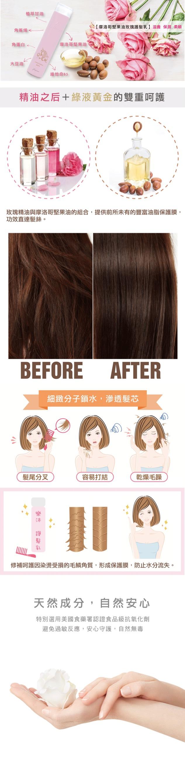 【LeMood】|摩洛哥堅果油玫瑰 護髮乳 300ml