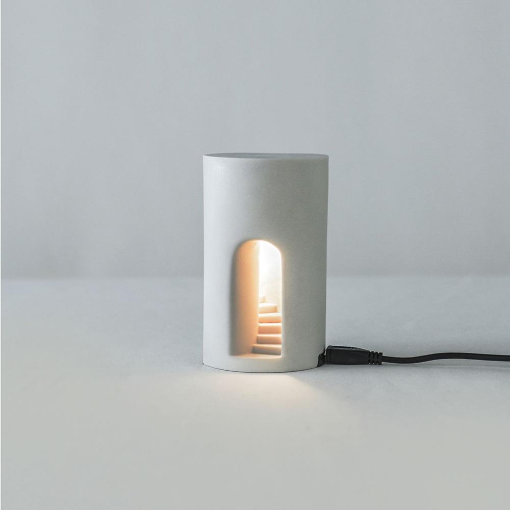 Timestone|夢徑-Light 人造石迴旋階梯小夜燈