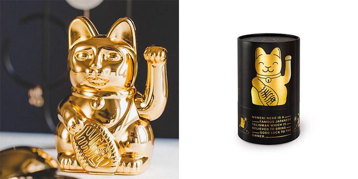 德國 Donkey Products|啞光霧面招財貓 Maneki-Neko - 紫羅蘭