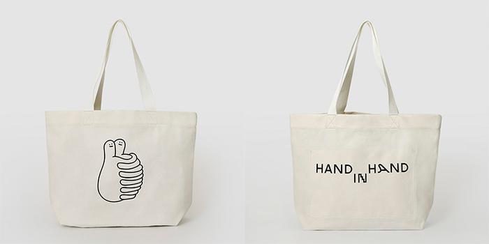 (複製)HAND IN HAND|HUGS 中型托特包 – 黑
