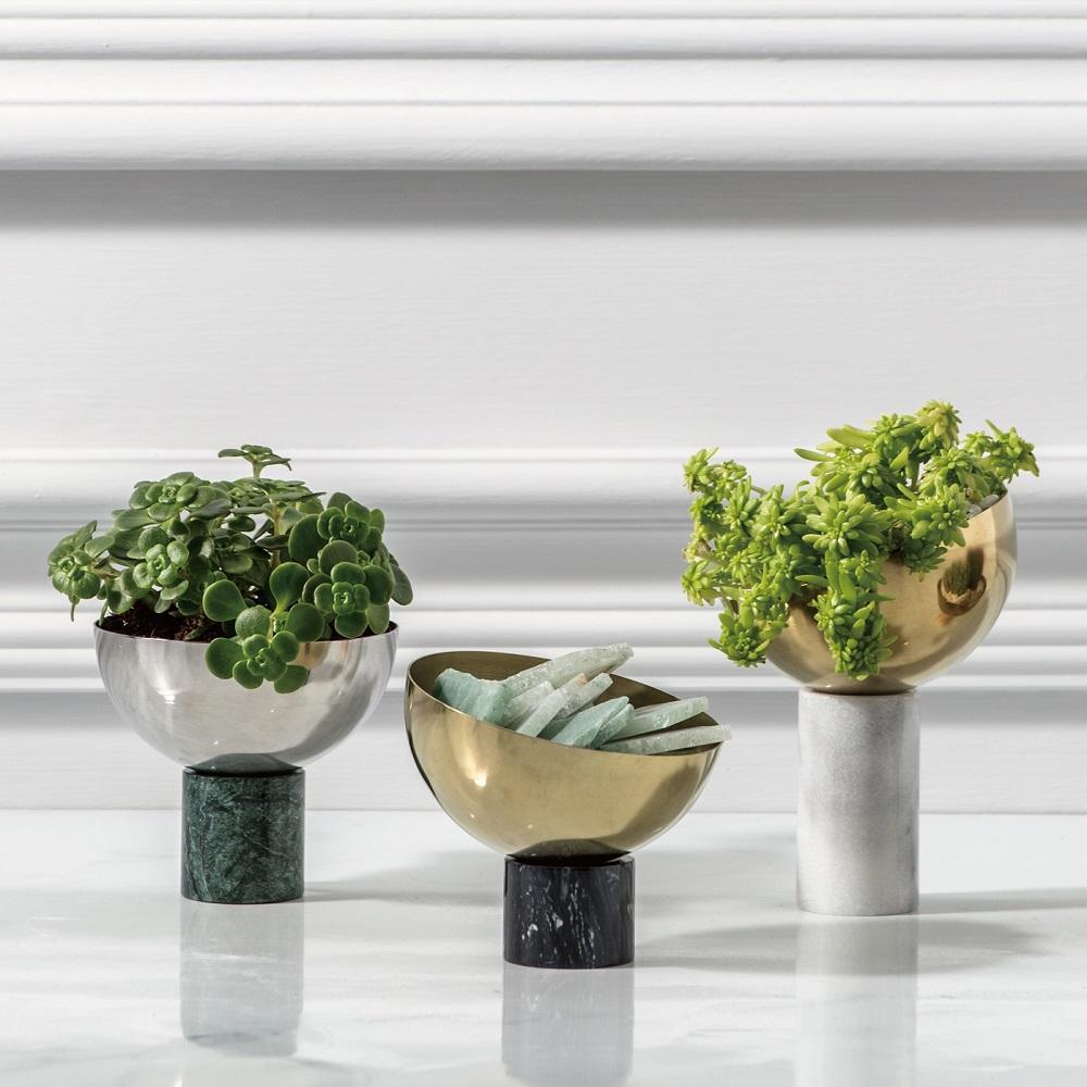 WORROW|大理石半圓花器系列 (高)
