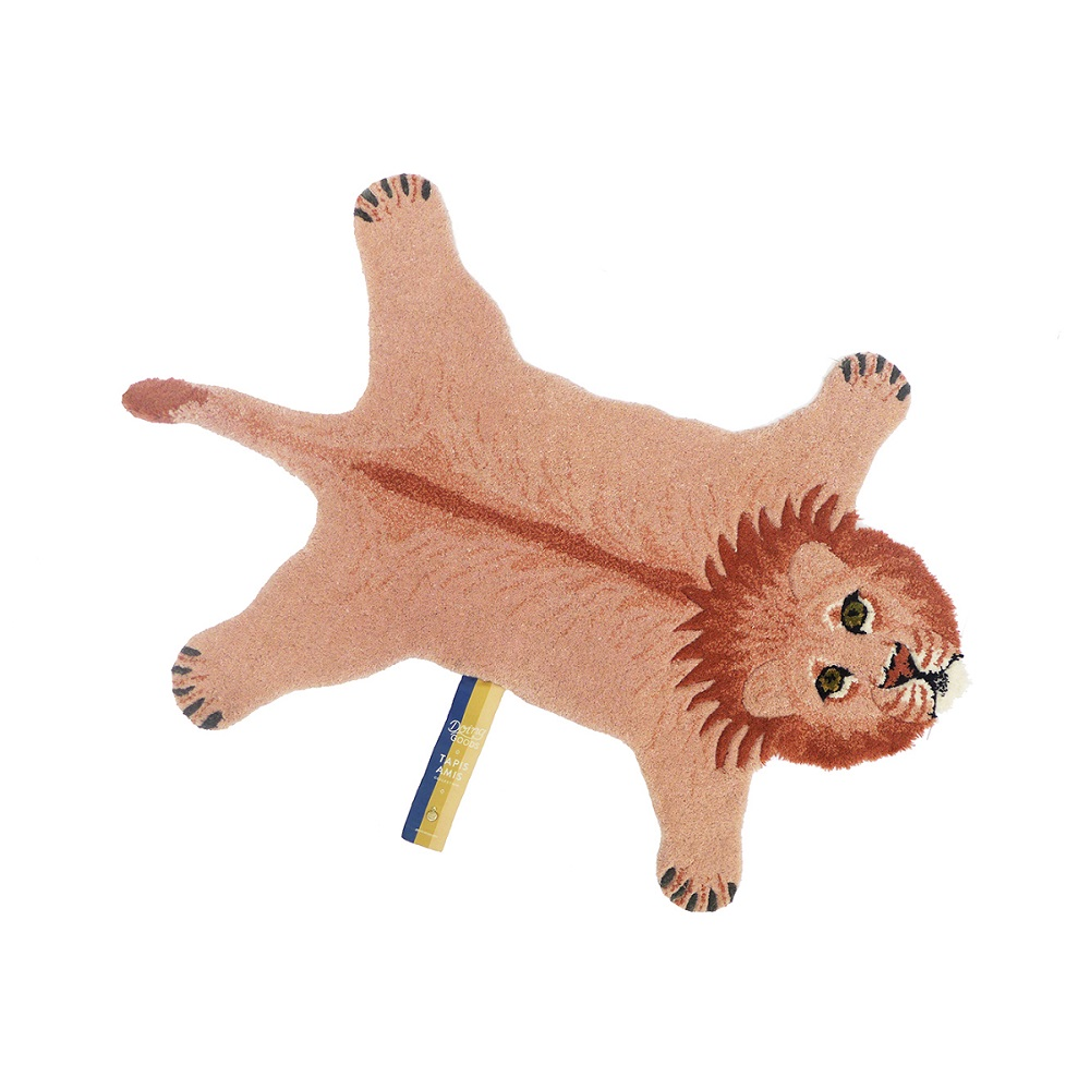 Doing Goods|Tapis Amis系列手工羊毛動物造型地毯 - 粉紅獅子