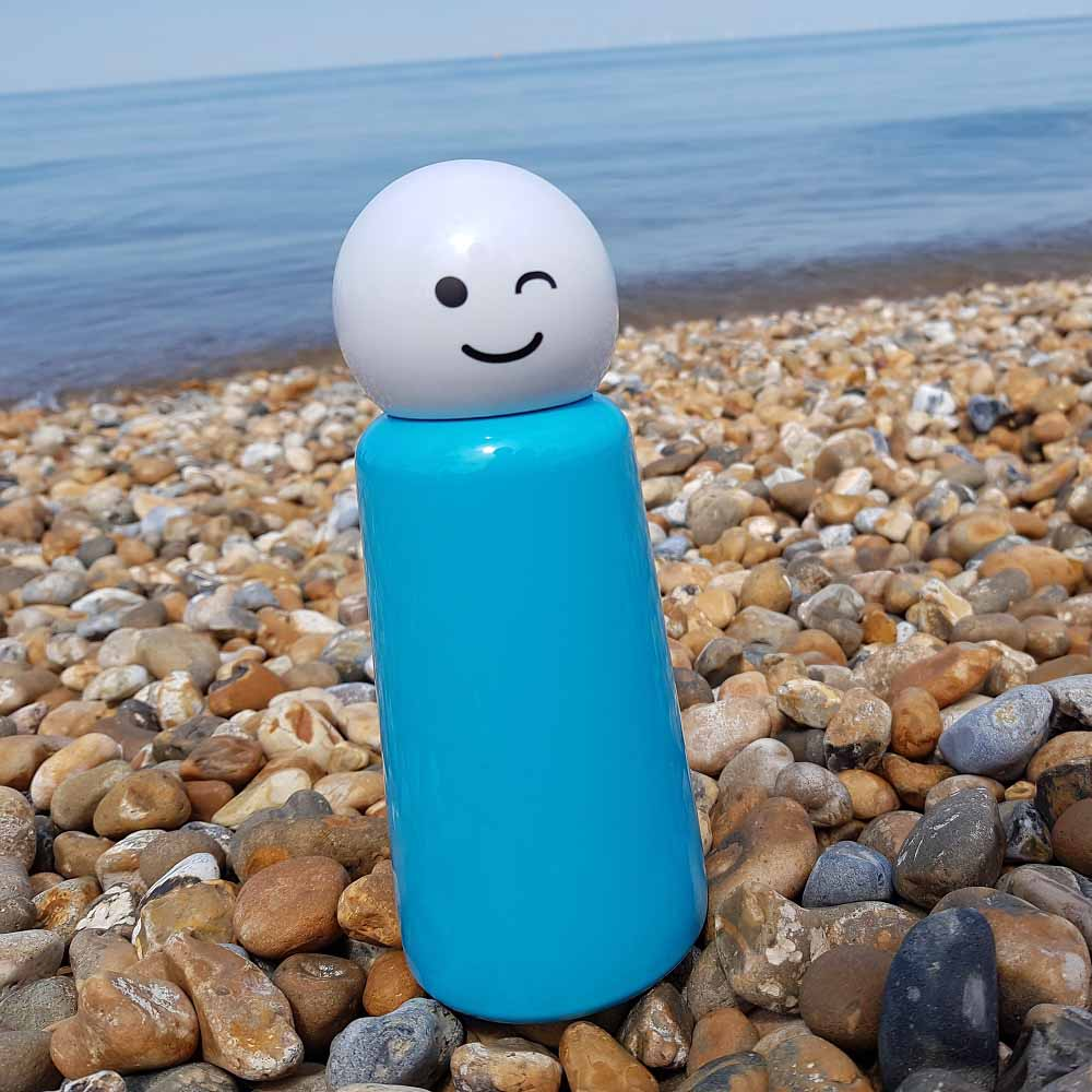 Lund London|Skittle 保溫瓶(300ml) - 天藍 x 眨眼