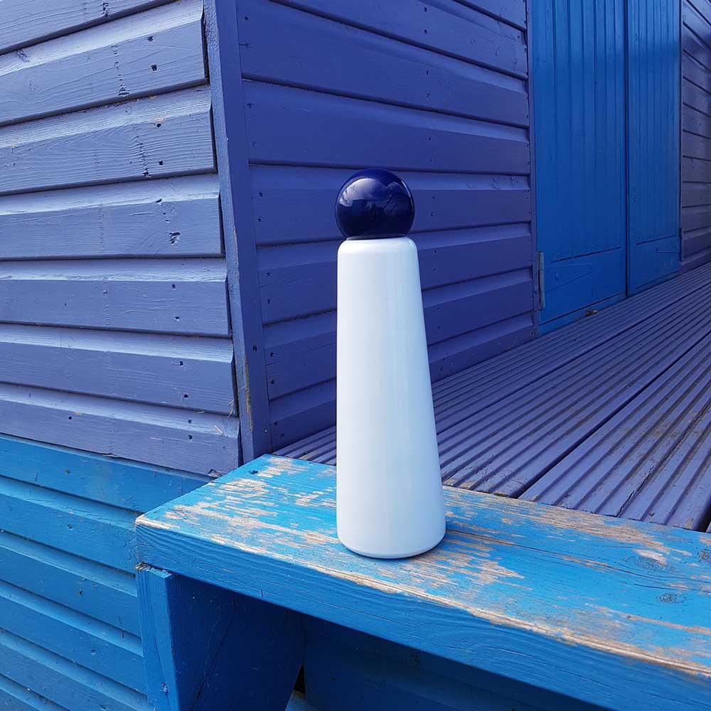 Lund London Skittle 保溫瓶(750ml) - 白 x 靛藍