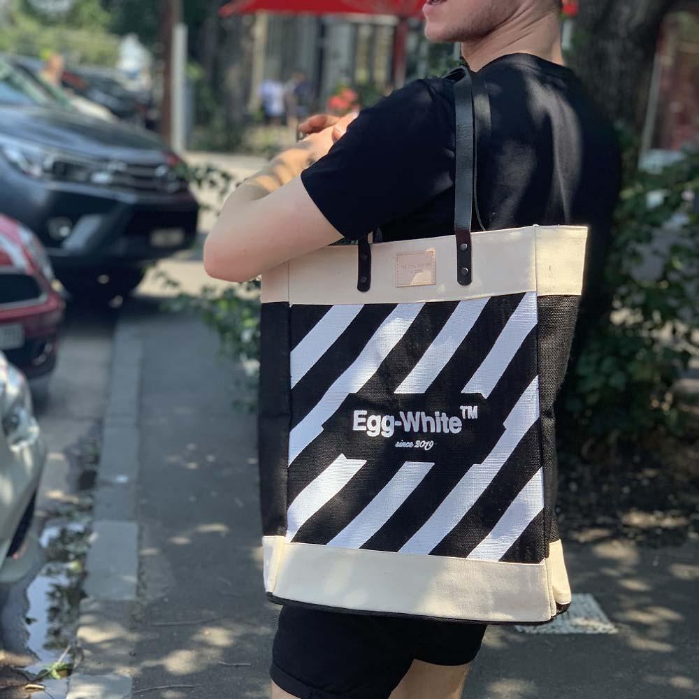 The Cool Hunter|玩轉時尚購物袋/托特包 Egg-White