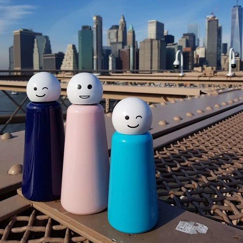Lund London|Skittle 保溫瓶(500ml) - 粉紅 x 微笑