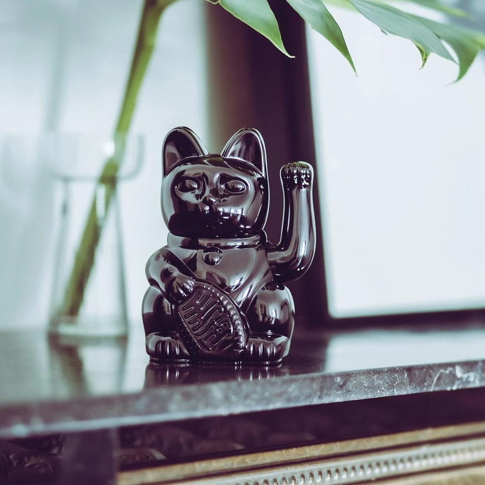 德國 Donkey Products|限定款招財貓 Maneki-Neko - 幸運亮黑