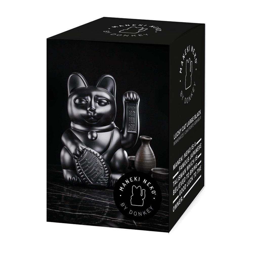 德國 Donkey Products 大型招財貓(高30cm) Maneki-Neko - 黑