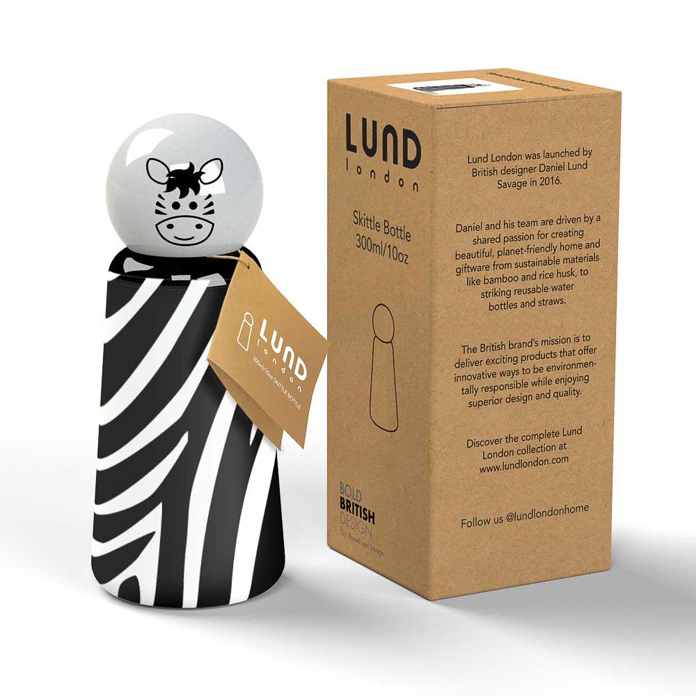 Lund London|Skittle 保溫瓶(300ml) - 斑馬 (7361)