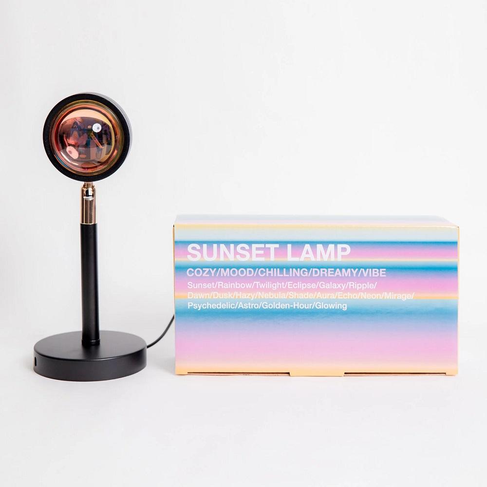 SUNSET LAMP 日落投射裝飾燈 - 彩虹款 (二入組)