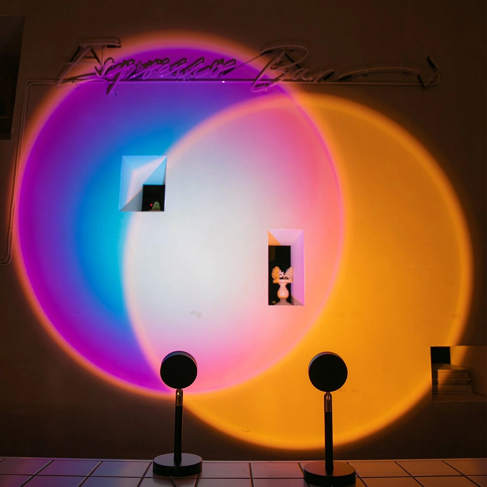 SUNSET LAMP 日落投射裝飾燈(二入組) 夕陽款 + 彩虹款