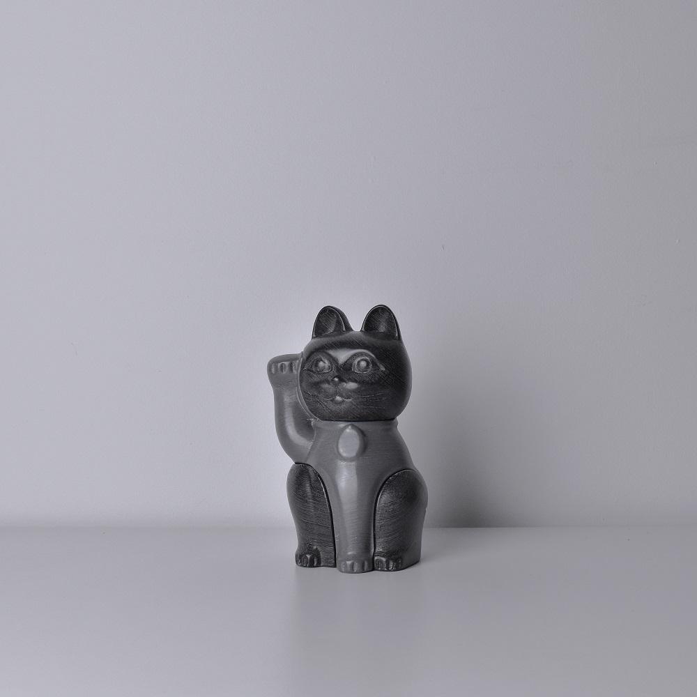 LOCKNESTERS|灰色招財貓拼圖公仔 - 小(高15cm)