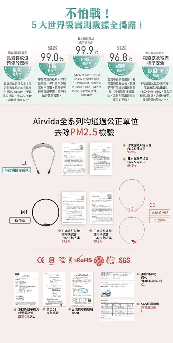 ible|Airvida 穿戴式負離子空氣清淨機_個人隨身型(都會粉)