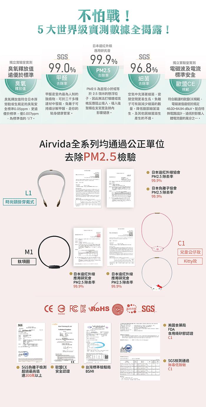 ible|Airvida 穿戴式負離子空氣清淨機_個人隨身型(星耀黑)