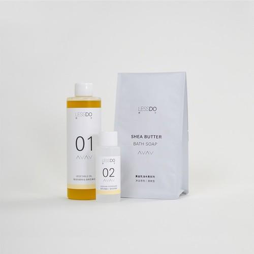 LESSDO|01+02 SHEA BUTTER 乳木果油沐浴皂包(自皂機專用)