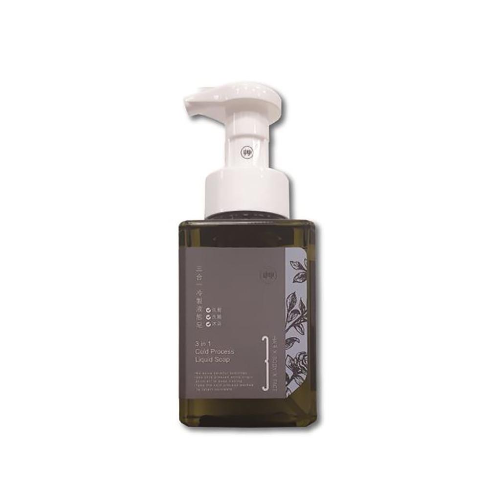 艸研所 三合一冷製液態皂400ml(洗髮、洗臉、沐浴適用)