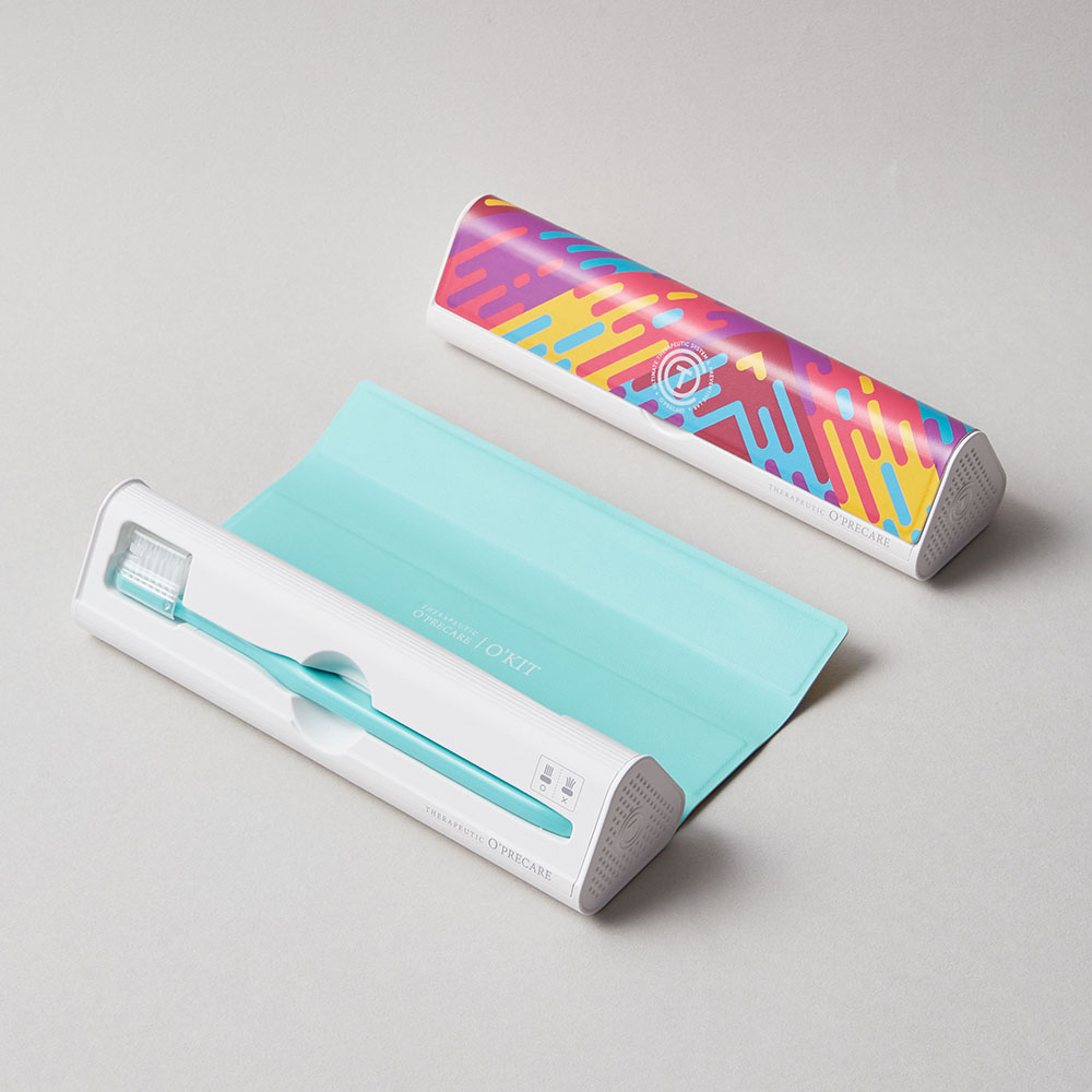 O'PRECARE OKIT 攜帶式牙刷牙膏清潔組 數位彩虹【買一送一】