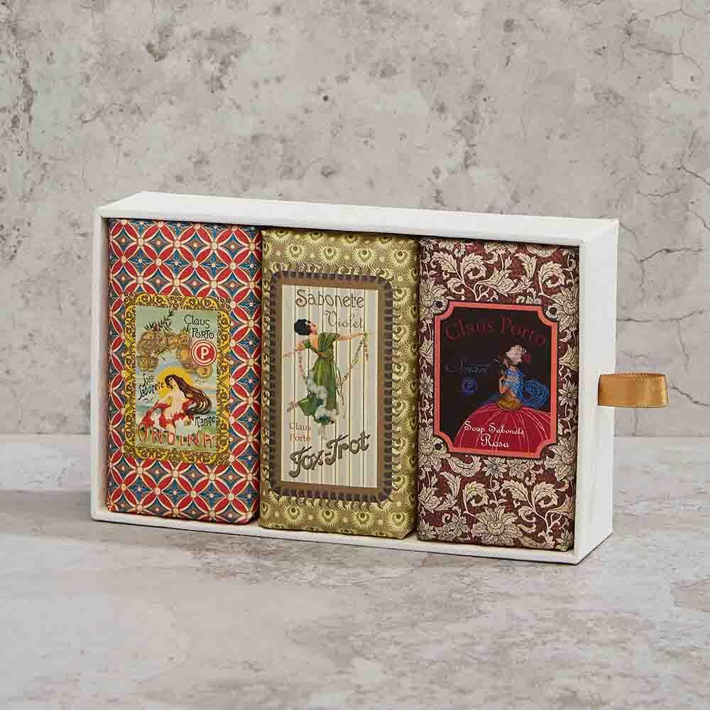 CLAUS PORTO|復古手工蠟封香氛皂禮盒組 玫瑰/紫羅蘭/海霧