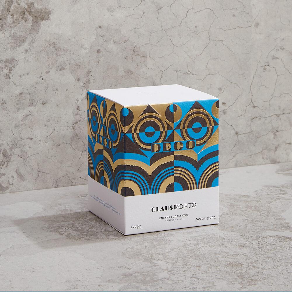 CLAUS PORTO|菱紋白瓷香氛蠟燭 幾何森林(萊姆羅勤)
