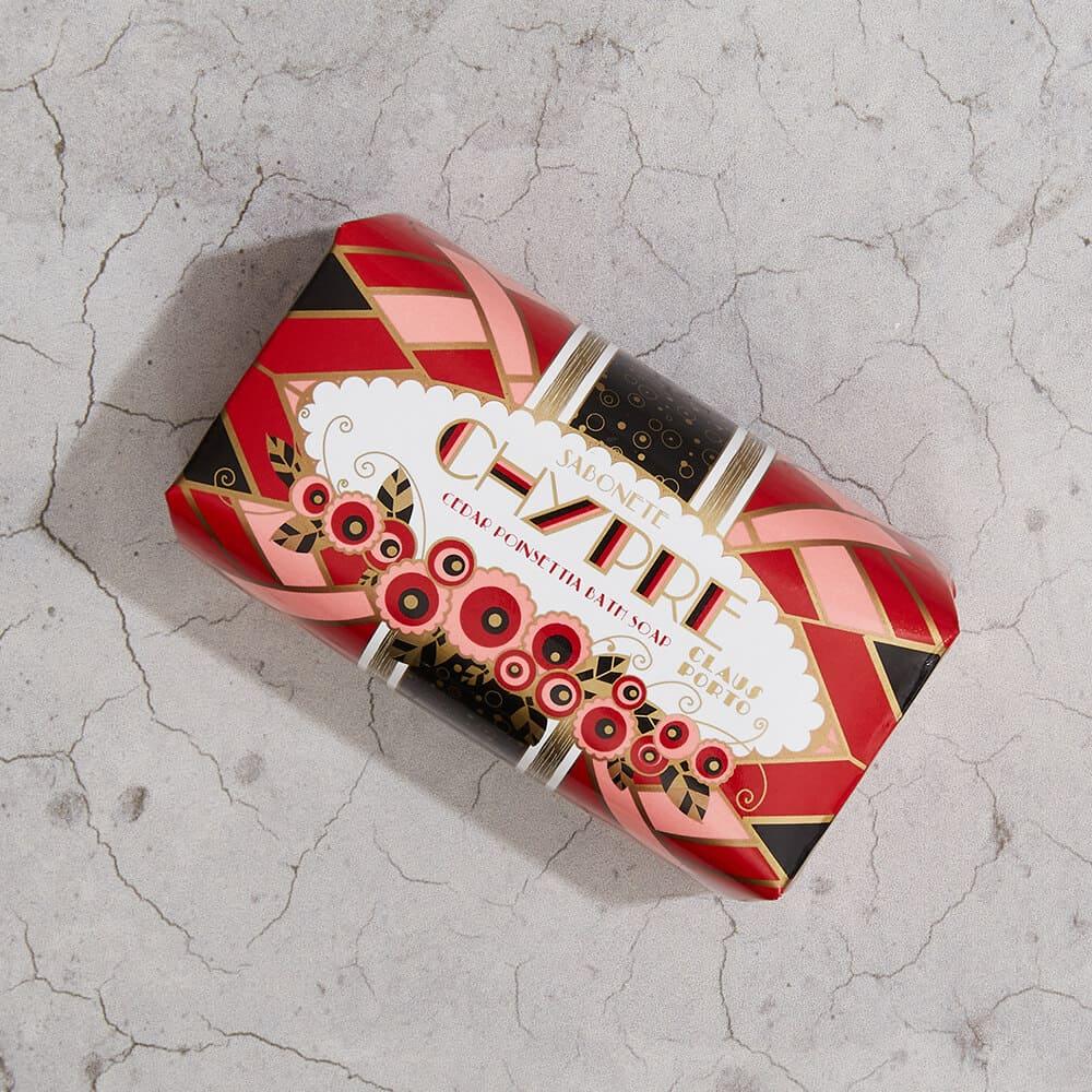 CLAUS PORTO 里斯本頌歌皇家香氛皂 350g 紅底鞋女神(雪松一品紅)