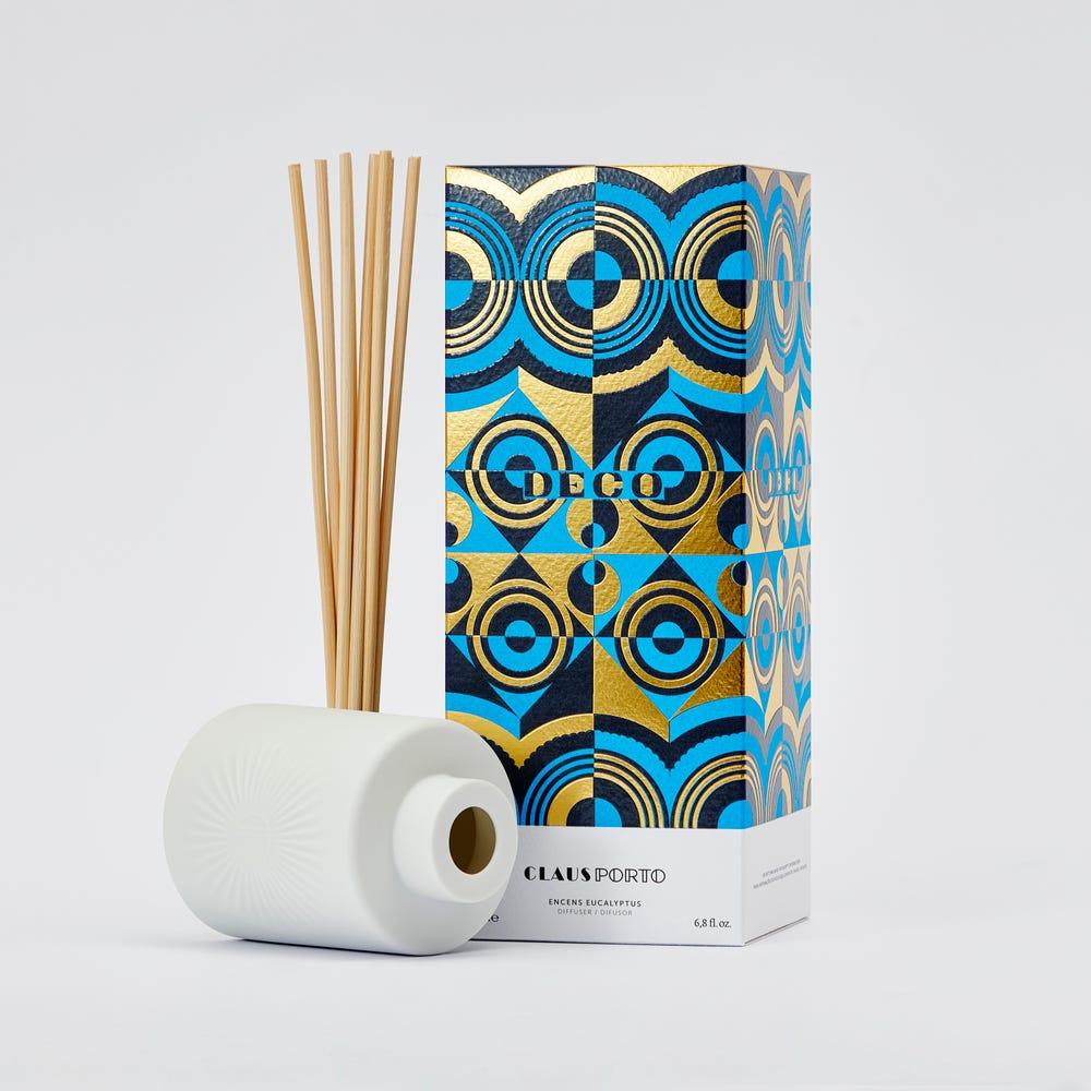 CLAUS PORTO|白瓷蘆葦擴香組 幾何森林(萊姆羅勤)