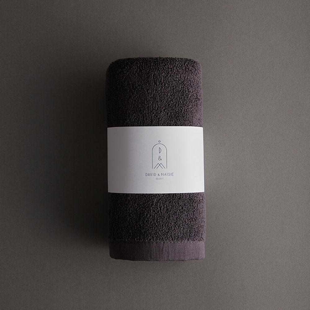 DAVID & MAISIE|100%純棉柔軟毛巾 藏墨灰