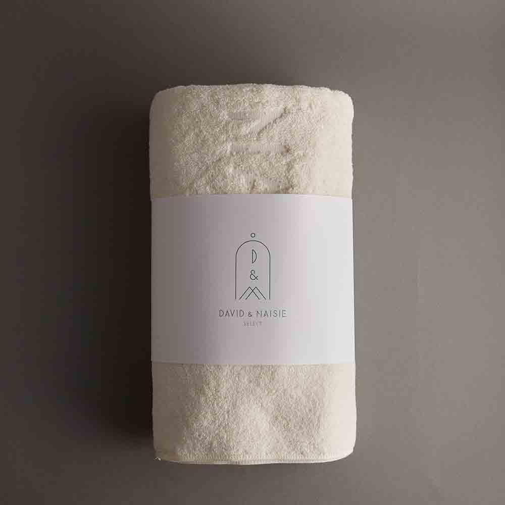 DAVID & MAISIE|100%純棉柔軟浴巾 樸實米